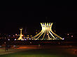Brasilia's Cathedral, Night, Brazil
