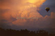 Storm and Hot Air Balloon in Sunset